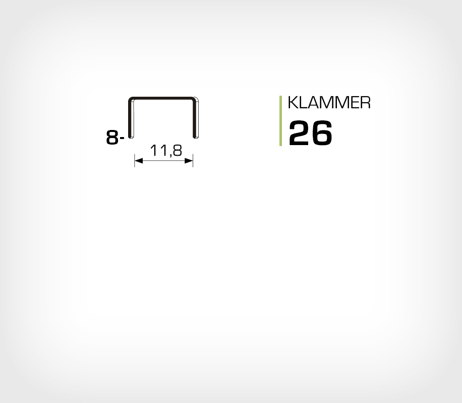 Klammer 26/6 - Rapid 26/6 Super Strong