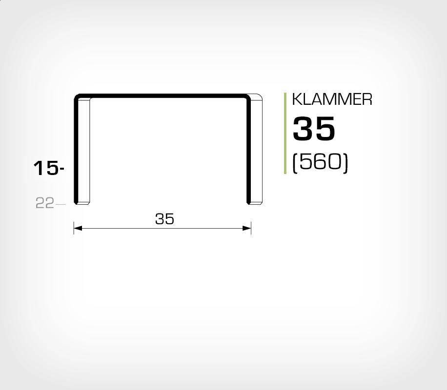 Klammer 35/15 (560-15K) - OMER