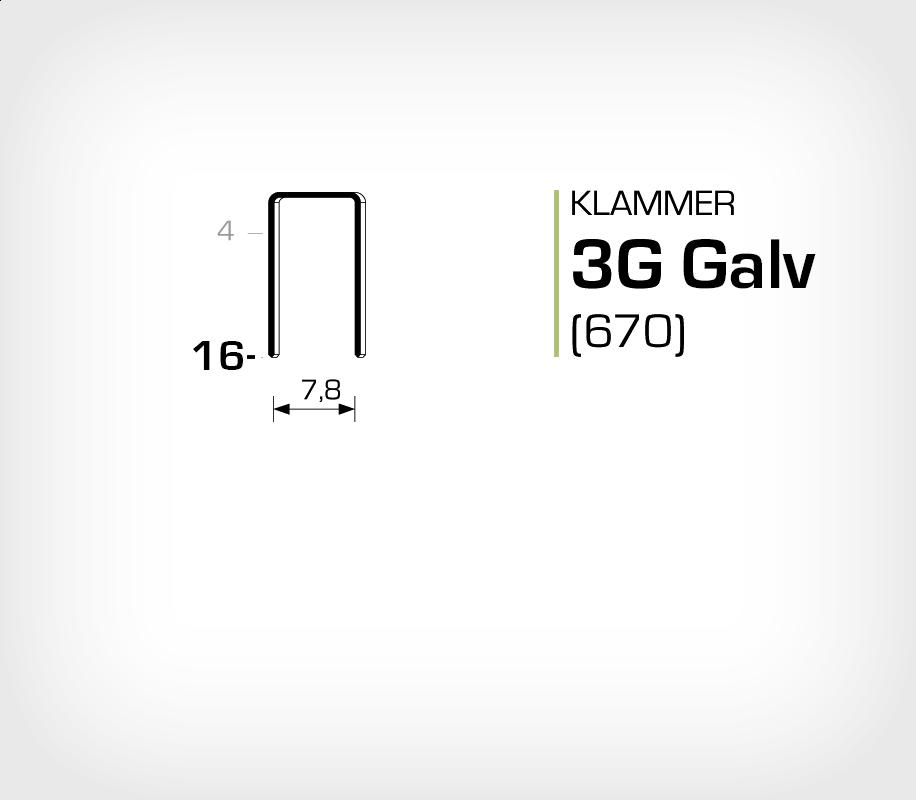 Klammer 3G/16 Elförzinkad Galv (670-16)