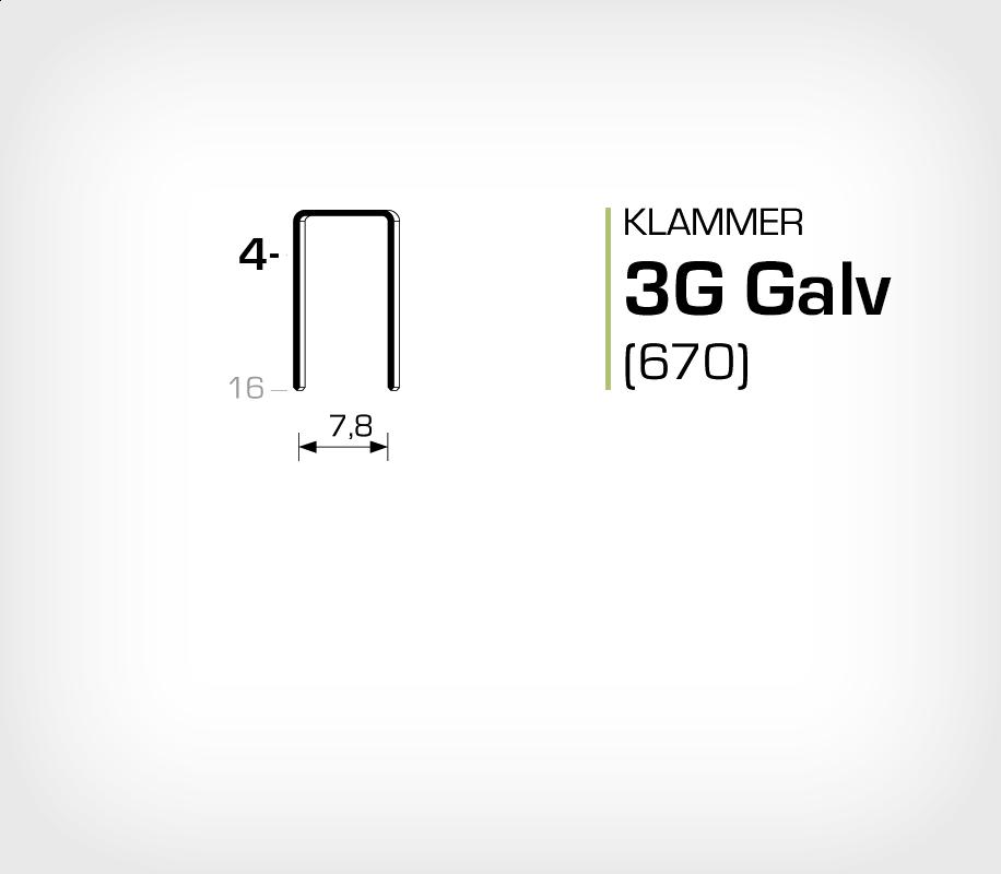 Klammer 3G/4 Elförzinkad Galv (670-04)