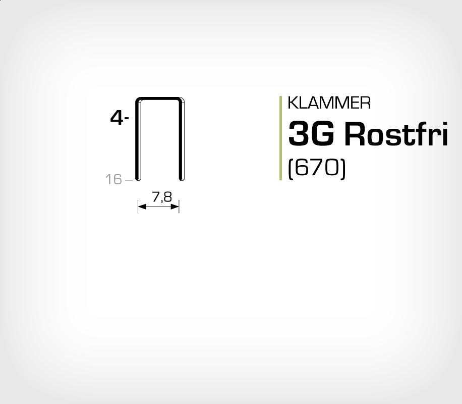 Klammer 3G/4 SS Rostfri (670-04 SS)