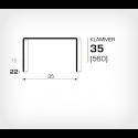 Klammer 35/22 (560-22K) - 15000 st / kartong