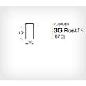 Klammer 3G/10 SS Rostfri (670-10 SS) - 10000 st / ask