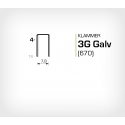 Klammer 3G/4 Galv (670-04) - 20000 st / ask