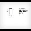 Klammer 3G/8 Galv (670-08) - 10000 st / ask