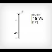 Dyckert 12/40 (SKN 12-40) Vitlackerad