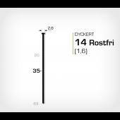 Rostfri dyckert 14/35 SS (SKN 16-35 SS)