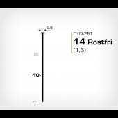 Rostfri dyckert 14/40 SS (SKN 16-40 SS)