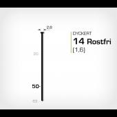 Rostfri dyckert 14/50 SS (SKN 16-50 SS)